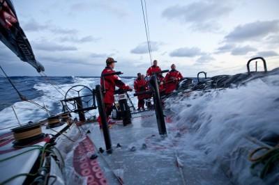 Conforme o vento aumenta, a velocidade e a água dentro do barco também aumentam