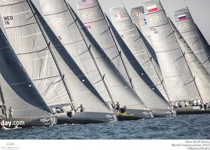 A flotilha de RC44 terá 13 barcos na primeira etapa de 2013