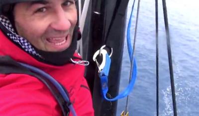 Benedetto, que não é bendito, perdeu o balão, ficou 48h sem dormir e finalmente quebrou as costelas no Atlântico Sul. Que maré!