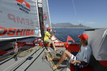 Betão e Igor treinam a bordo do Picolé