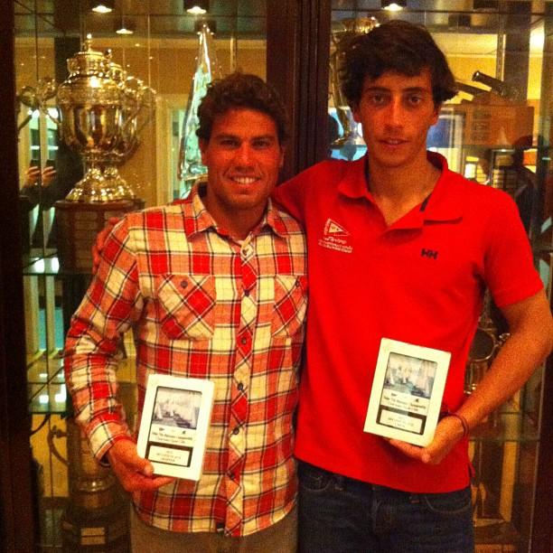 Juninho e Coveiro, os vice-campeões