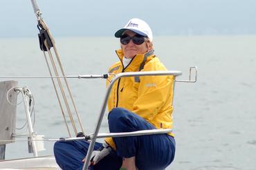 Aline Bassi registrou a Barbara a bordo do Fram