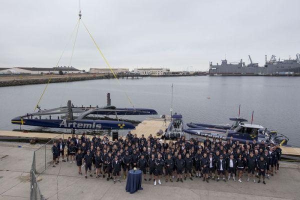 O novo barco do Artemis Racing