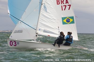 Fernandinha e Ana ficaram em 9º lugar no MUndial de 470.