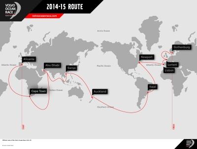 Novo roteiro da Volvo Ocean Race 2014/15