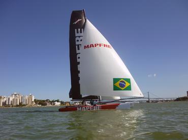 Equipe brasileira nas águas de Floripa