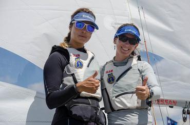 Isabel e Renata, em campanha na classe 470