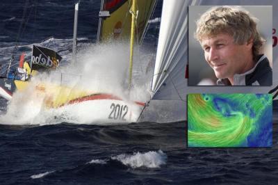 Bernard Stamm naufragou no Atlântico seu IMOCA60.