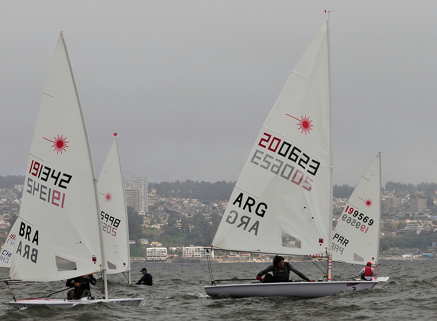 A flotilha de Laser Radial por Raúl Zamora
