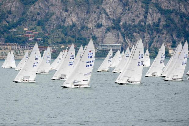 A flotilha de 92 barcos no Mundial de Star