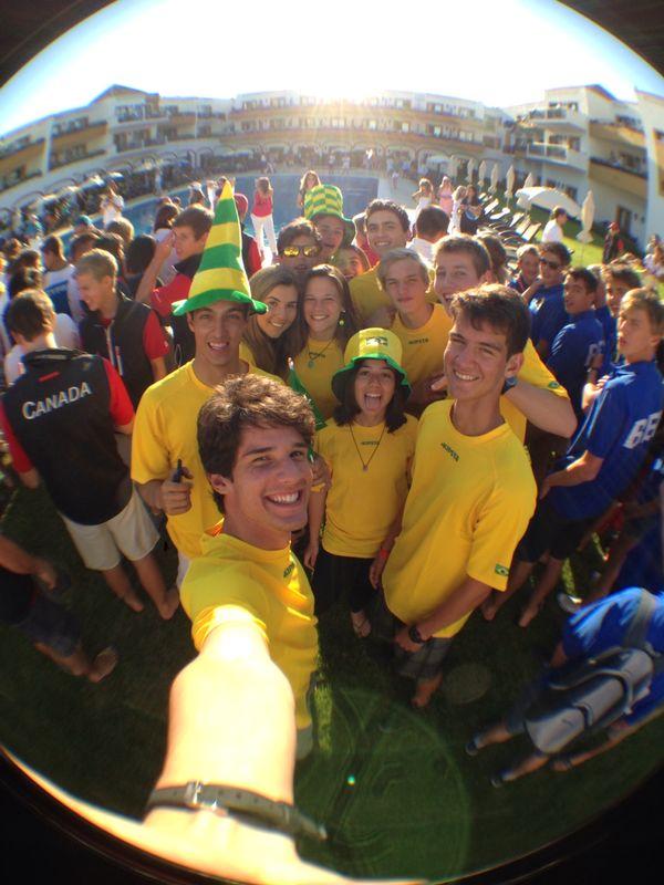 Selfie da equipe brasileira