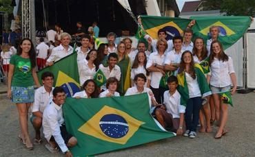 A equipe brasileira em Travemunde