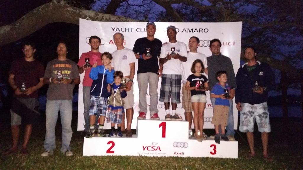 Os cinco primeiros colocados (e os netos da lenda Paulo Santos)