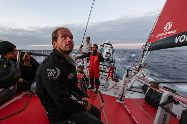 Concentração total a bordo do Team Dongfeng