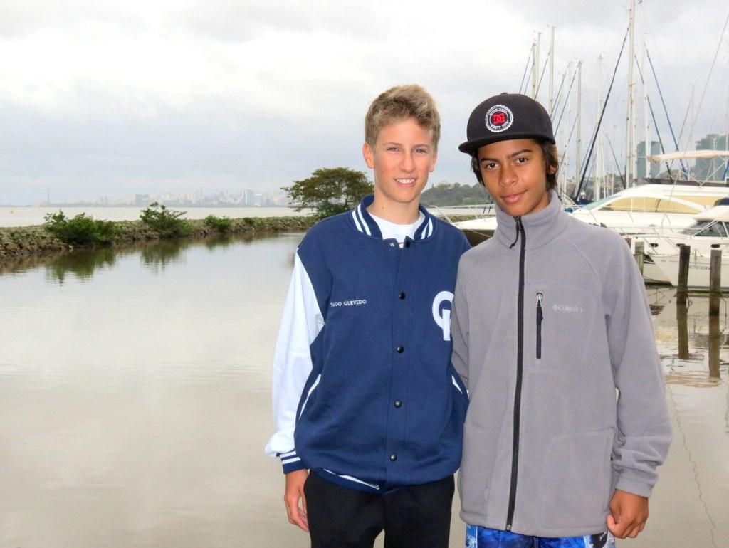 Tiago e Gabriel na foto de Ane Meira