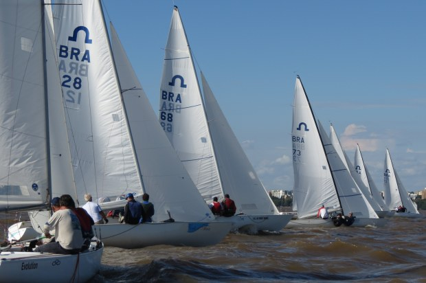 Regata de Soling no Guaíba.