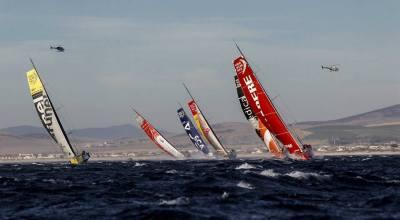 Ventos fortes marcaram a largada da 2ª perna da VOR na Cidade do Cabo