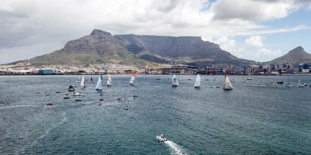 A regata inport da Cidade do Cabo foi assim. Nesta quarta será dada a largada da segunda perna