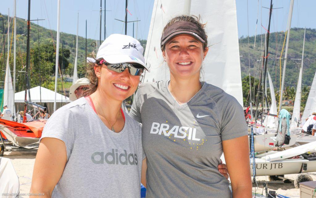 Fernanda e Ana tiveram dia quase perfeito. Foto Fred Hoffmann/CBVela