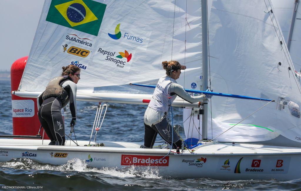 Fernanda Oliveira ganhou o melhor presente de aniversário: a liderança da 470