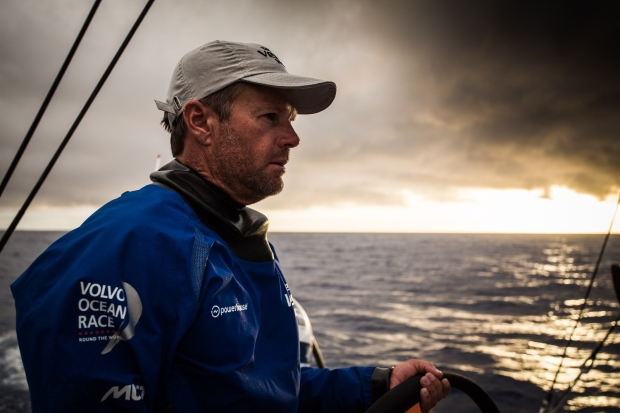 O skipper do Team Vestas Chris Nicholson. Foto de Brian Carlin/Team Vestas Wind/Volvo Ocean Race