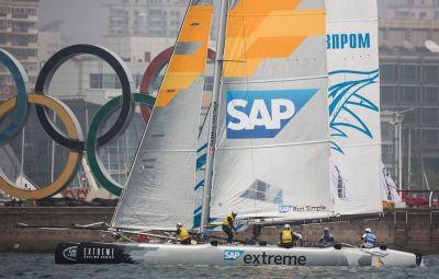 Pela primeira vez o SAP venceu uma etapa da eXtreme Sailing Series. Já não era tempo!